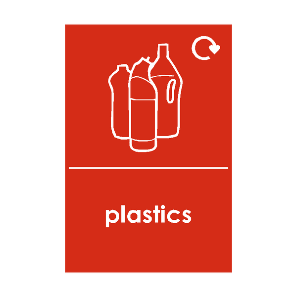 Plastic Waste Recycling Signs - Safety-Label.co.uk