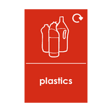 Plastic Waste Recycling Sticker | Safety-Label.co.uk
