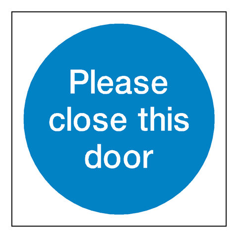 Please Close This Door Sign - Safety-Label.co.uk