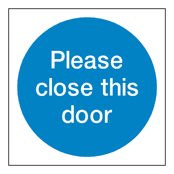 Please Close This Door Sticker | Safety-Label.co.uk