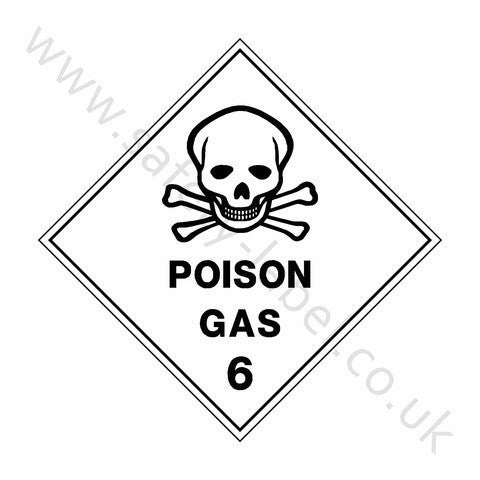 Poison Gas 6 Sign - Safety-Label.co.uk