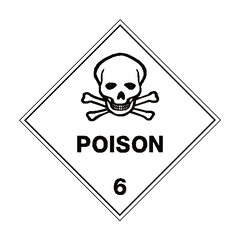 Poison 6 Label - Safety-Label.co.uk