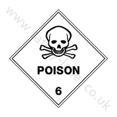 Poison 6 Sign - Safety-Label.co.uk