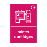 Printer Cartriges Waste Sticker | Safety-Label.co.uk