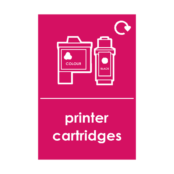 Printer Cartriges Waste Sticker - Safety-Label.co.uk