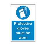 Protective Gloves Sticker | Safety-Label.co.uk