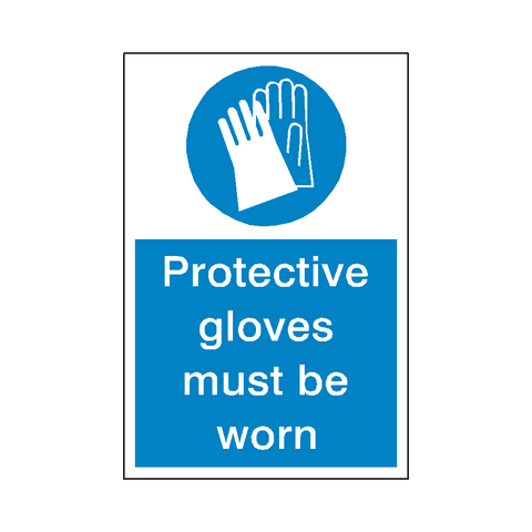 Protective Gloves Sticker - Safety-Label.co.uk