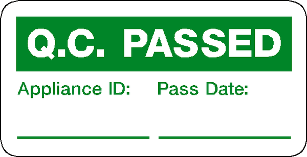 All Road Safety Signs >> QC Pass Label – Safety-Label.co.uk | Safety Signs, Safety Stickers & Safety Labels