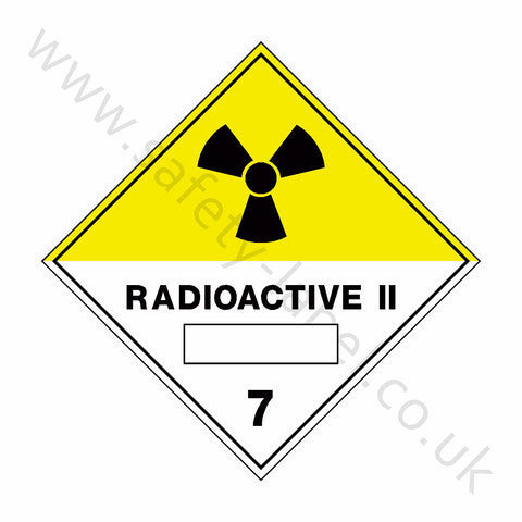 Radioactive ii 7 Sign - Safety-Label.co.uk
