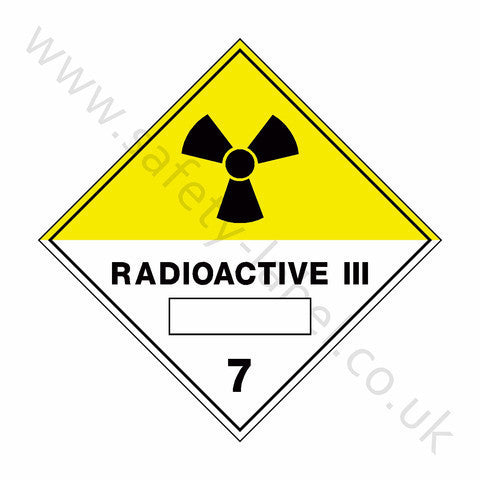 Radioactive iii 7 Sign - Safety-Label.co.uk