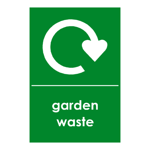 Recycling Garden Waste Sign - Safety-Label.co.uk