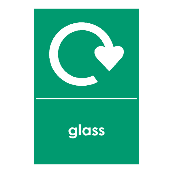 Recycling Glass Sticker - Safety-Label.co.uk