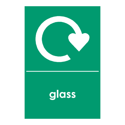 Recycling Glass Sign - Safety-Label.co.uk