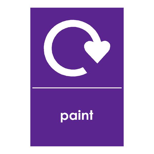 Recycling Paint Sticker - Safety-Label.co.uk