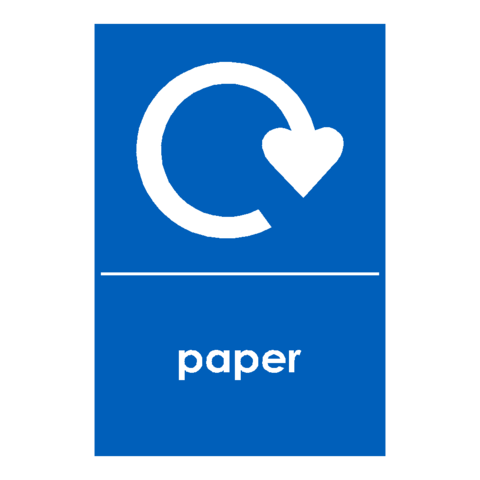 Recycling Paper Sign - Safety-Label.co.uk