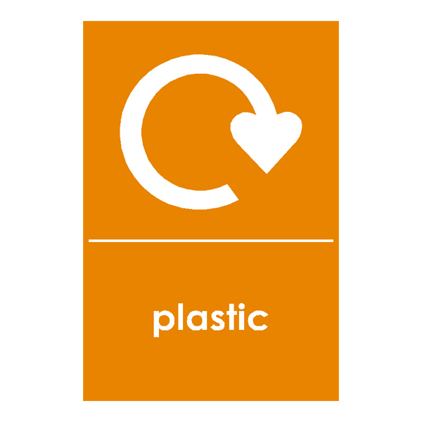 Recycling Plastic Sticker - Safety-Label.co.uk