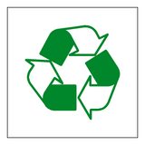Recycling Symbol Sticker | Safety-Label.co.uk