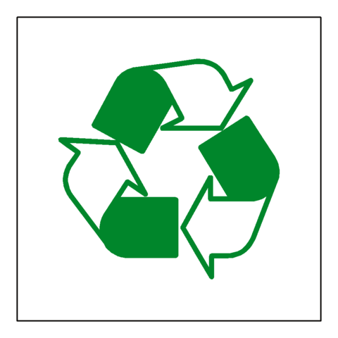 Recycling Symbol Sign - Safety-Label.co.uk