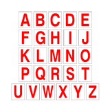 Alphabet Letter Sticker Pack Red | Safety-Label.co.uk