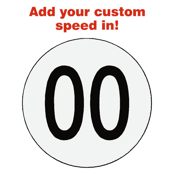 Reflective Custom Kph Speed Limit Sticker - Safety-Label.co.uk