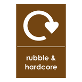 Recycling Hardcore & Rubble Sticker | Safety-Label.co.uk