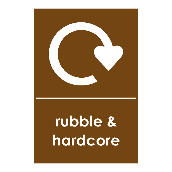 Recycling Hardcore & Rubble Sticker - Safety-Label.co.uk