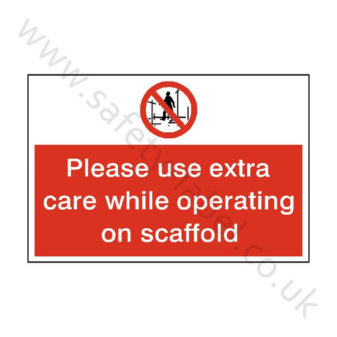 Scaffolding Construction Safety Sign - Safety-Label.co.uk