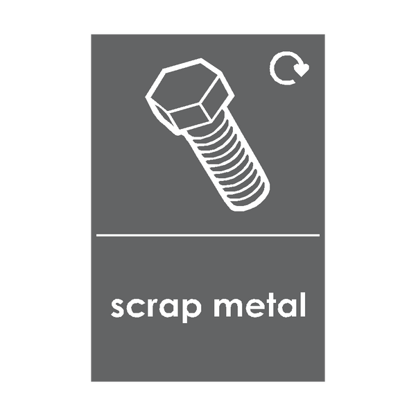 Scrap Metal Waste Recycling Sticker - Safety-Label.co.uk