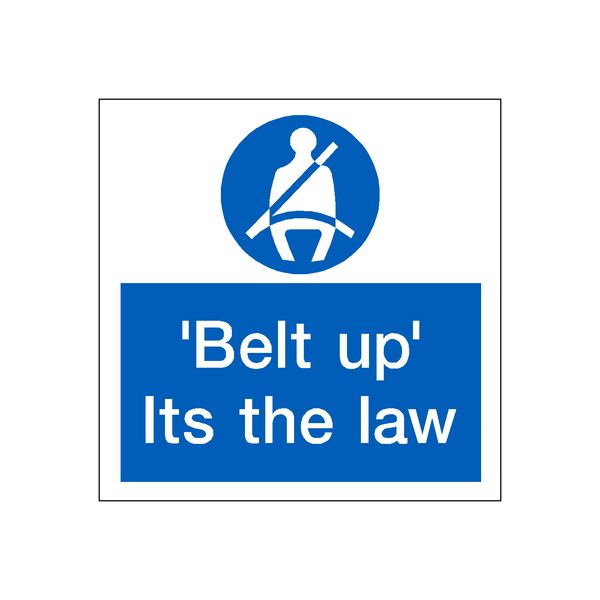 Seatbelt Law Sticker | Safety-Label.co.uk
