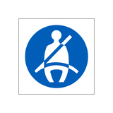 Seat Belt Sticker - Safety-Label.co.uk