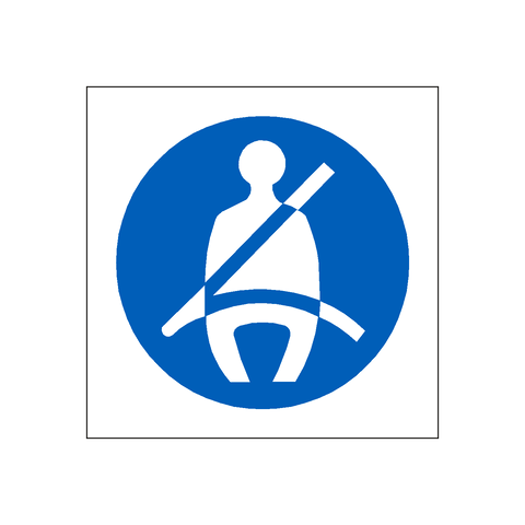 Seat Belt Sticker