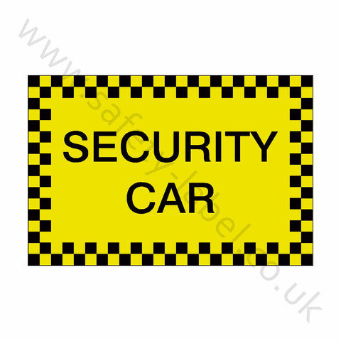 Security Car Sticker - Safety-Label.co.uk