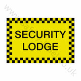 Security Lodge Sticker | Safety-Label.co.uk