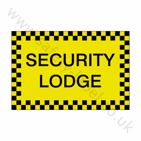 Security Lodge Sticker - Safety-Label.co.uk