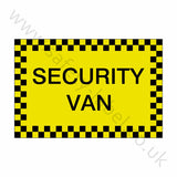 Security Van Sticker - Safety-Label.co.uk