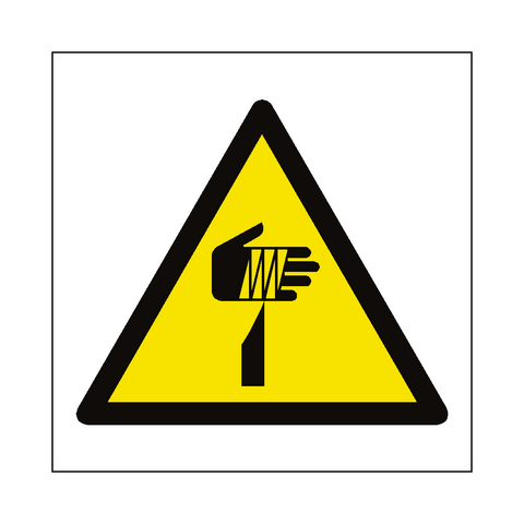 Sharp Hazard Symbol Label - Safety-Label.co.uk