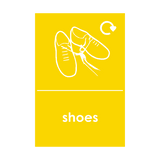 Shoes Waste Recycling Sticker | Safety-Label.co.uk