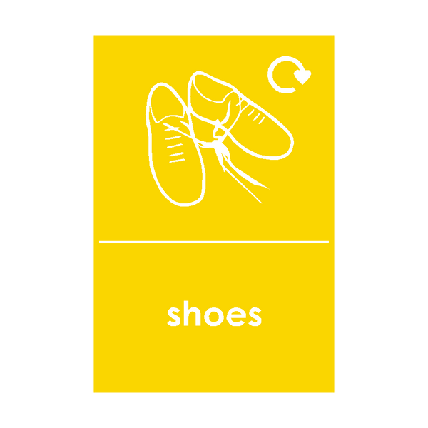 Shoes Waste Recycling Sticker - Safety-Label.co.uk