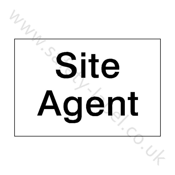 Site Agent Sign | Safety-Label.co.uk