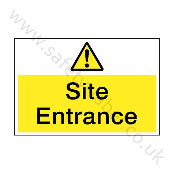 Caution Site Entrance Sign | Safety-Label.co.uk