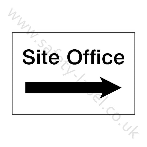 Site Office Right Sign - Safety-Label.co.uk