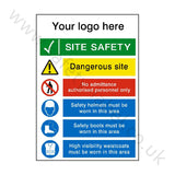 Site Entrance Sign Custom Logo | Safety-Label.co.uk