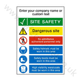 Site Entrance Sign Custom Text | Safety-Label.co.uk