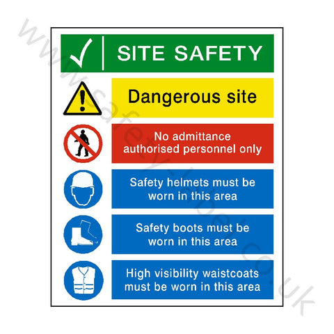 Site Entrance Sign - Safety-Label.co.uk