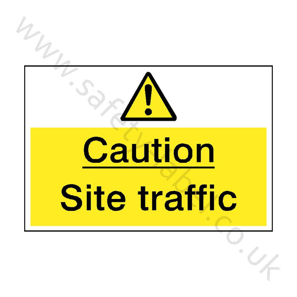 Site Traffic Safety Sign | Safety-Label.co.uk