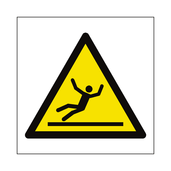 Slippery Floor Hazard Symbol Sign | Safety-Label.co.uk
