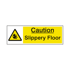Slippery Floor Warning Sign - Safety-Label.co.uk