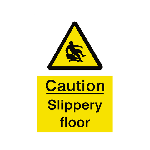Slippery Floor Hazard Sign - Safety-Label.co.uk