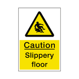 Slippery Floor Sticker | Safety-Label.co.uk