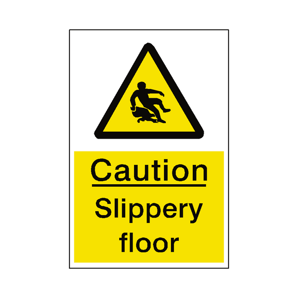Slippery Floor Sticker - Safety-Label.co.uk